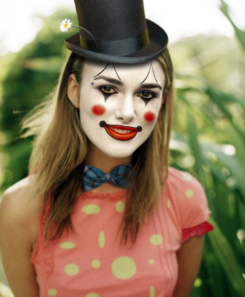 фото клоуна макияж