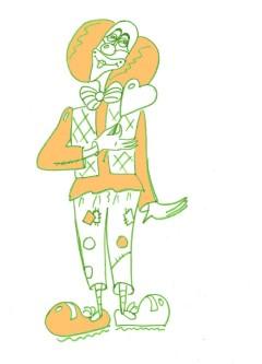 Рисунок клоуна (оранжевый)