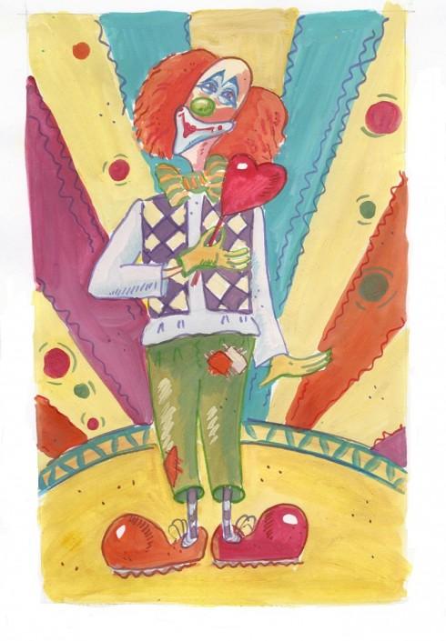 Рисунок клоуна