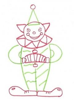 Как нарисовать клоуна (простой)
