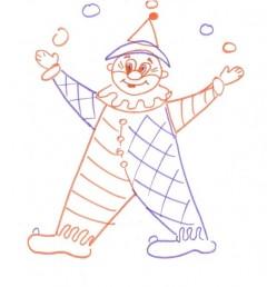 Рисунок клоуна (посложнее)